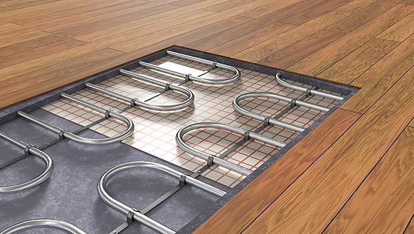 Монтаж деревянных полов на систему теплый пол